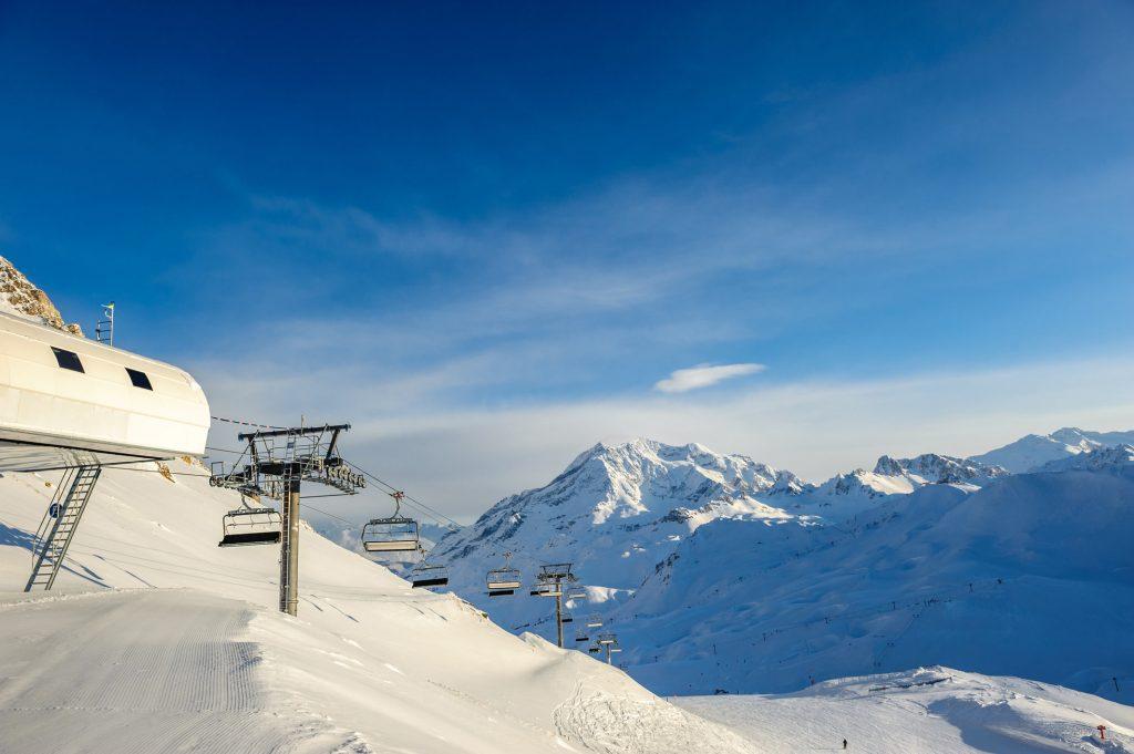 Alpy - wyciąg narciarski