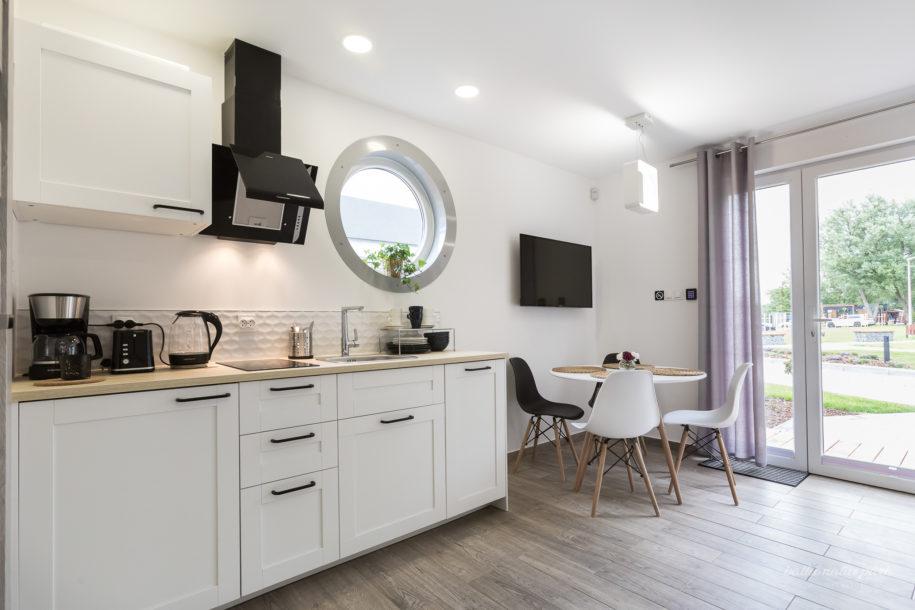 Kuchnia w apartamentowych domkach